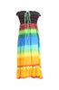 Multi-Colored Rainbow Design 3-In-1 Summer Beach Tube Dress/Cover-up - BodiLove | 30% Off First Order  - 30