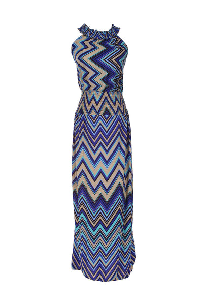 Exotic Chevron Prints Maxi Beach Dress - BodiLove | 30% Off First Order  - 1
