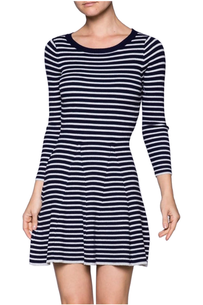 Long Sleeve Fit & Flare Sweater Dress - BodiLove | 30% Off First Order - 1