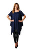 Short Sleeve A-Line Trapeze Tunic Dress | 30% Off First Order | Navy