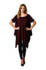 Short Sleeve A-Line Trapeze Tunic Dress | 30% Off First Order | Burgundy