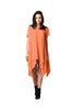 Short Sleeve A-Line Trapeze Tunic Dress | 30% Off First Order | Coral1