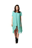 Short Sleeve A-Line Trapeze Tunic Dress | 30% Off First Order | Mint Green