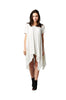 Short Sleeve A-Line Trapeze Tunic Dress | 30% Off First Order | Off White