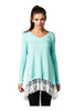 Oversized Long Sleeve Lace Trimmed Tunic Dress | 30% Off First Order | Mint