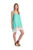 Spaghetti Strap Lace Trimmed Slip Dress | 30% Off First Order | Mint