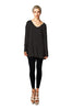 Long Sleeve Tunic Dress W/ Tied Back Detail | 30% Off First Order | Black