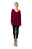 Long Sleeve Tunic Dress W/ Tied Back Detail | 30% Off First Order | Burgundy