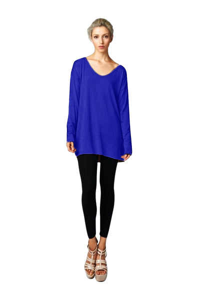 Long Sleeve Tunic Dress W/ Tied Back Detail | 30% Off First Order | Royal Blue