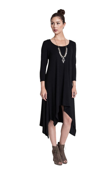 3/4 Sleeve A-Line Trapeze Tunic Dress - BodiLove | 30% Off First Order  - 1
