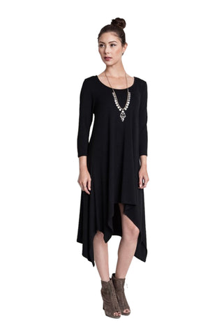 3/4 Sleeve A-Line Trapeze Tunic Dress