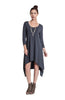 3/4 Sleeve A-Line Trapeze Tunic Dress - BodiLove | 30% Off First Order  - 3
