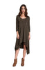 3/4 Sleeve A-Line Trapeze Tunic Dress - BodiLove | 30% Off First Order  - 6