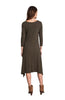 3/4 Sleeve A-Line Trapeze Tunic Dress - BodiLove | 30% Off First Order  - 2