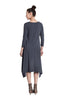3/4 Sleeve A-Line Trapeze Tunic Dress - BodiLove | 30% Off First Order  - 4
