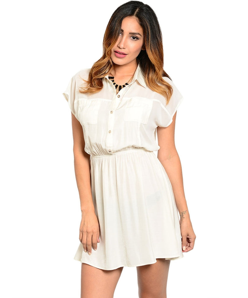 Short Sleeve Chiffon Blouse Dress - BodiLove | 30% Off First Order  - 3