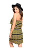 Multicolored Strapless Dress W/ Flounce Neckline - BodiLove | 30% Off First Order  - 2