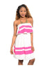 Multicolored Strapless Dress W/ Flounce Neckline - BodiLove | 30% Off First Order  - 5