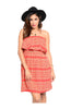 Multicolored Strapless Dress W/ Flounce Neckline - BodiLove | 30% Off First Order  - 9