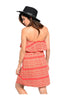 Multicolored Strapless Dress W/ Flounce Neckline - BodiLove | 30% Off First Order  - 10