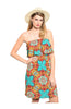 Multicolored Strapless Dress W/ Flounce Neckline - BodiLove | 30% Off First Order  - 11