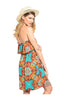 Multicolored Strapless Dress W/ Flounce Neckline - BodiLove | 30% Off First Order  - 12