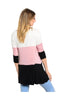 3/4 Sleeve Color Blocked Oversized Tunic | 30% Off First Order | Light Pink & Mint