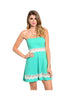 Strapless Fit & Flare Dress W/ Cutout Crochet Trim - BodiLove | 30% Off First Order  - 3