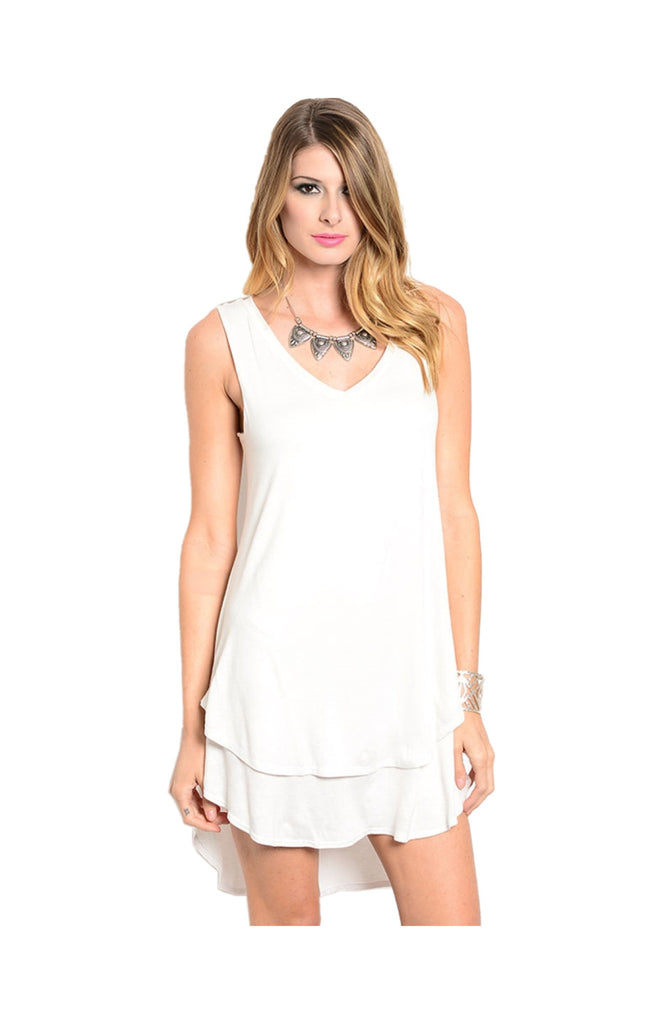 Sleeveless Layered A-Line Jersey Knit Tunic - BodiLove | 30% Off First Order  - 4