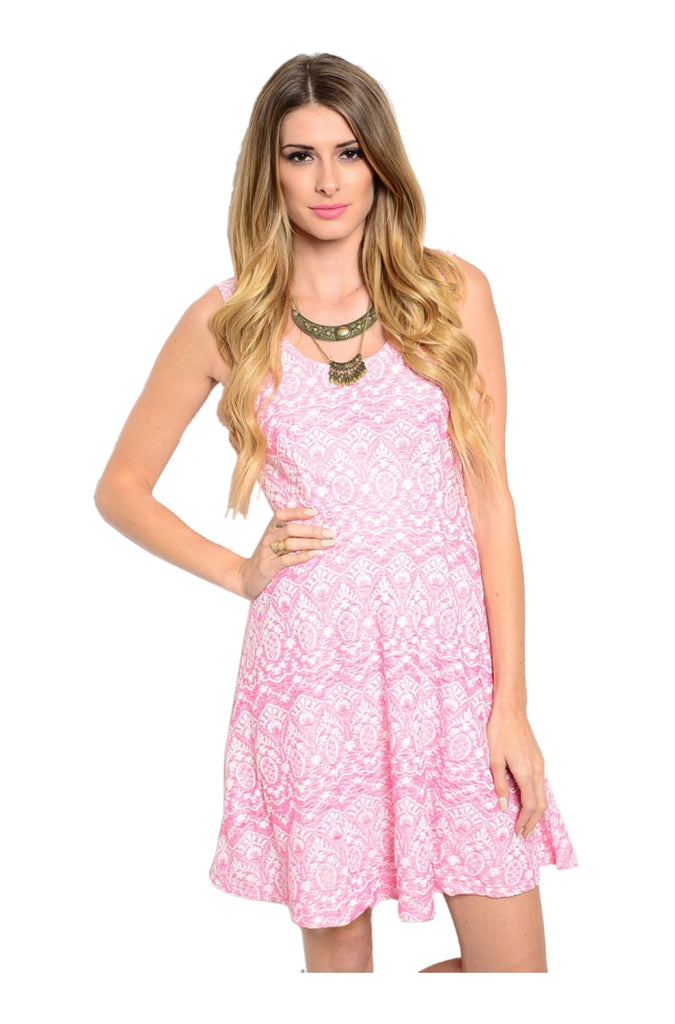 Textured Sleeveless Fit & Flare Skater Dress - BodiLove | 30% Off First Order  - 1
