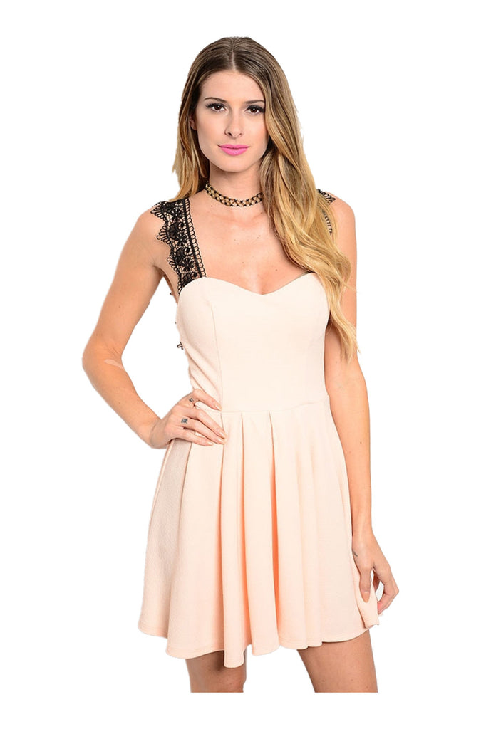 Fit & Flare Cocktail Dress W/ Lace Trim - BodiLove | 30% Off First Order  - 3
