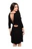 Oversize 3/4 Sleeve Tunic Dress W/ Back Cutout - BodiLove | 30% Off First Order  - 1