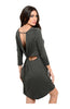 Oversize 3/4 Sleeve Tunic Dress W/ Back Cutout - BodiLove | 30% Off First Order  - 7