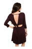 Oversize 3/4 Sleeve Tunic Dress W/ Back Cutout - BodiLove | 30% Off First Order  - 5