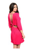 Oversize 3/4 Sleeve Tunic Dress W/ Back Cutout - BodiLove | 30% Off First Order  - 9