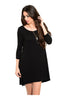 Oversize 3/4 Sleeve Tunic Dress W/ Back Cutout - BodiLove | 30% Off First Order  - 2