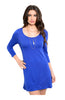 Oversize 3/4 Sleeve Tunic Dress W/ Back Cutout - BodiLove | 30% Off First Order  - 4