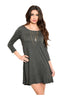 Oversize 3/4 Sleeve Tunic Dress W/ Back Cutout - BodiLove | 30% Off First Order  - 8