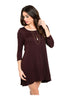 Oversize 3/4 Sleeve Tunic Dress W/ Back Cutout - BodiLove | 30% Off First Order  - 6