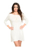 Oversize 3/4 Sleeve Tunic Dress W/ Back Cutout - BodiLove | 30% Off First Order  - 12