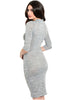 3/4 Sleeve Bodycon Midi Sweater Dress - BodiLove | 30% Off First Order  - 4