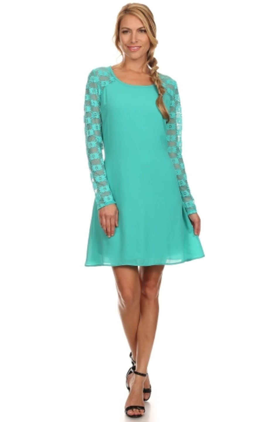 Lace Long Sleeve A-Line Cocktail Dress – BodiLove Fashion Store