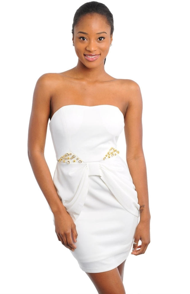Sweetheart Bustle Front Strapless Dress - BodiLove | 30% Off First Order  - 1