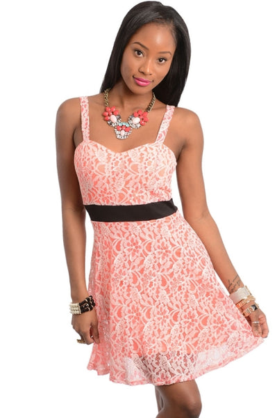 Sweetheart Lace A-line Dress | 30% Off First Order | Orange