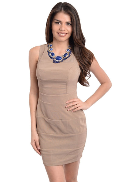 Sheath Dress with Criss Cross Back Straps - BodiLove | 30% Off First Order  - 1