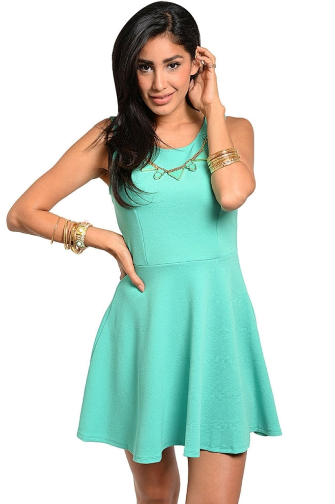 Sleeveless Skater Dress with Necklace - BodiLove | 30% Off First Order  - 1