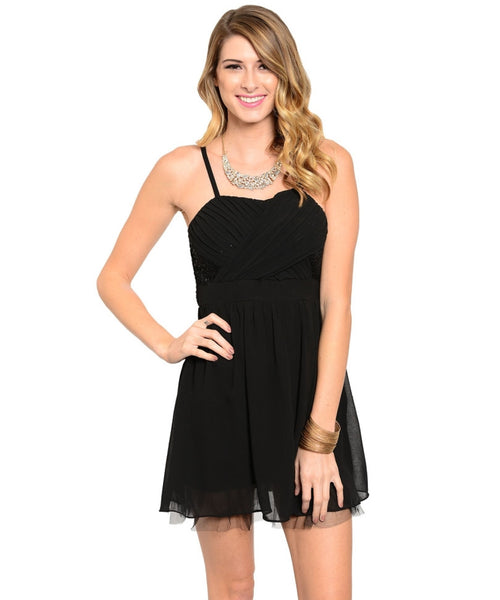 Spaghetti Strap Babydoll Cocktail Dress - BodiLove | 30% Off First Order  - 1