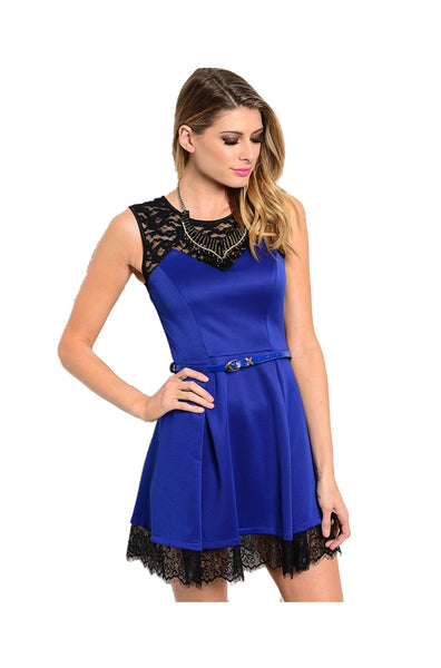 Sleeveless Lace Trimmed Cocktail Dress - BodiLove | 30% Off First Order  - 1