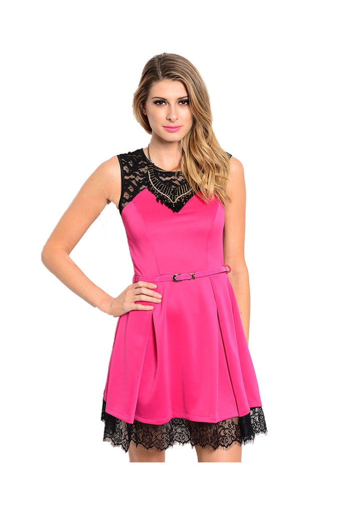 Sleeveless Lace Trimmed Cocktail Dress - BodiLove | 30% Off First Order  - 7