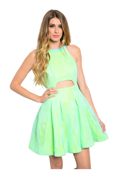 Sleeveless Fit & Flare Dress W/ Cutout Detail - BodiLove | 30% Off First Order  - 1
